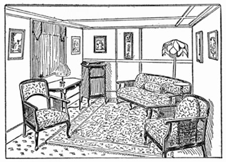 FIGURE 27   Obliquely Placed Furniture